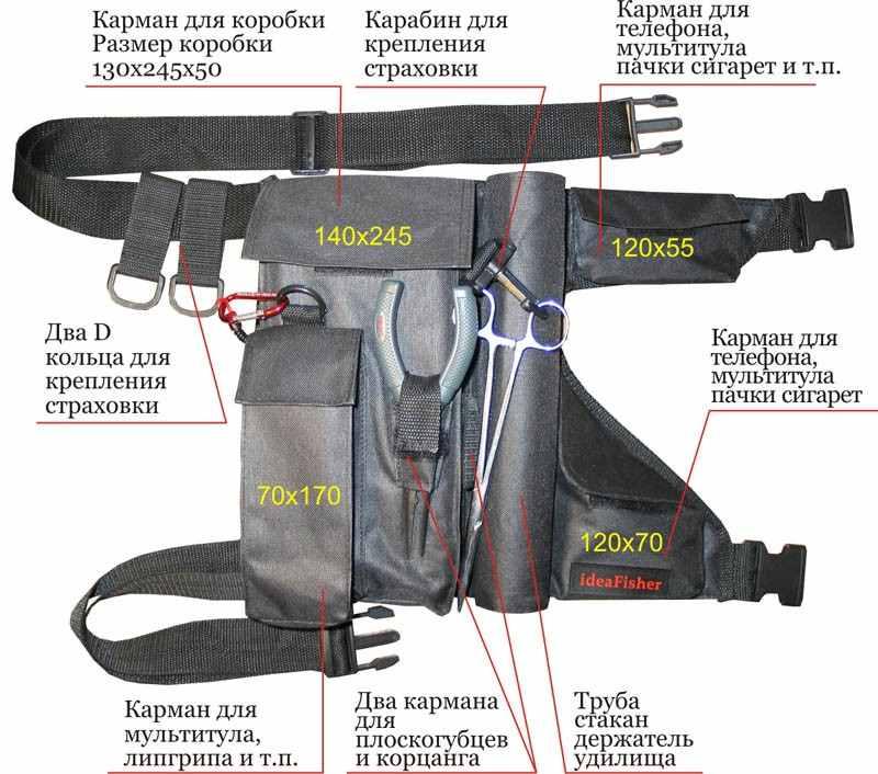 STAKAN-7 Пояс–держатель удилища + куча карманов