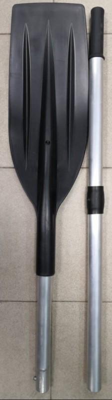 Весло алюминевое разборное с широкой изогнутой лопастью d-32 под уключину(1600*185)