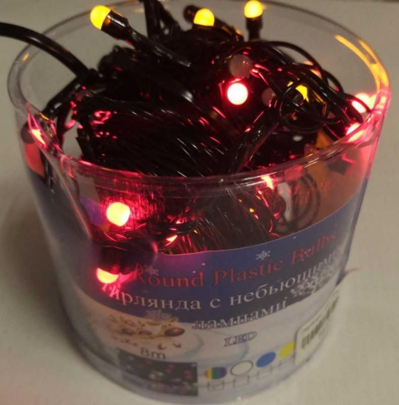 Гирлянда ( черн ) 8 м 100 LED