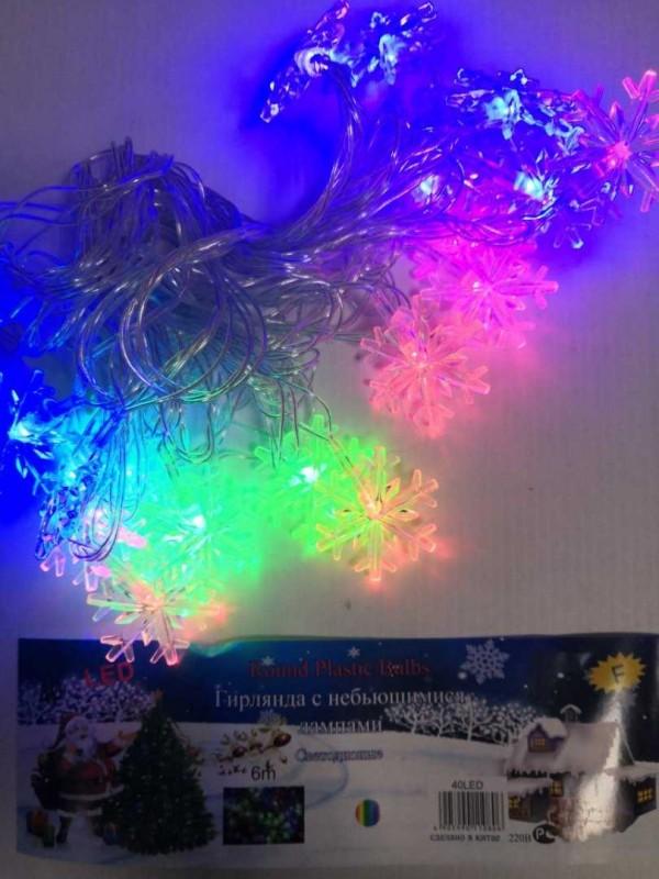 Гирлянда 6 м 40 LED ( снежинка )