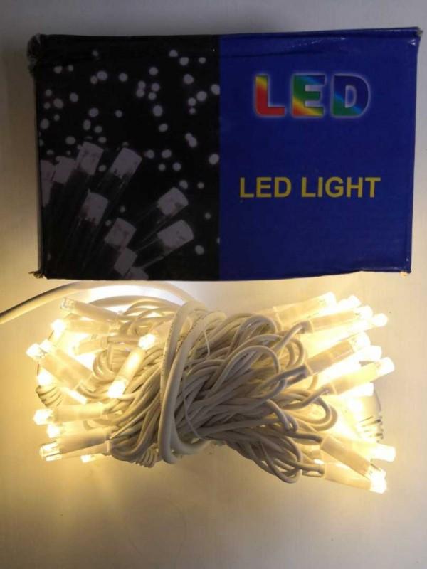 Гирлянда уличн.  10 м 100 LED  ( бел/желт )